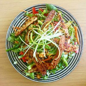 Tempeh asian salad